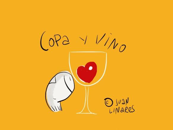 Copa y vino