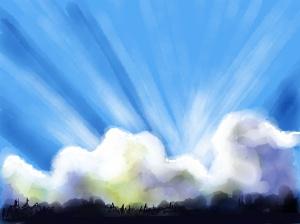 amanecer nubes